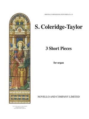 Samuel Coleridge-Taylor: Three Short Pieces Product Image