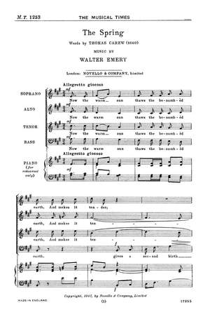 Walter Emery: The Spring
