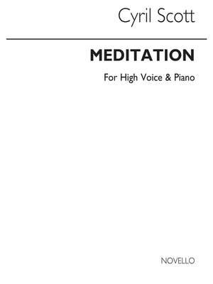 Cyril Scott: Meditation-high Voice/Piano (Key-c)