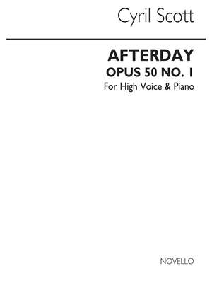 Cyril Scott: Afterday Op50 No.1-high Voice/Piano (Key-c)