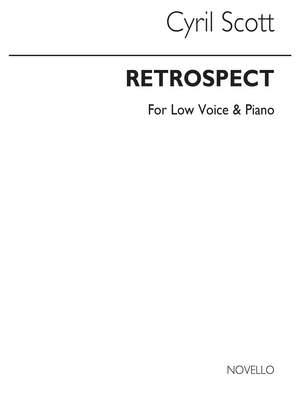 Cyril Scott: Retrospect-low Voice/Piano (Key-c)