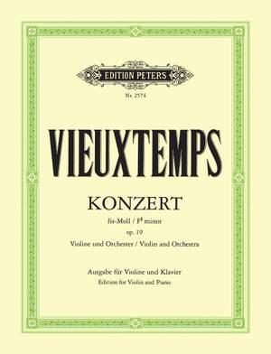 Vieuxtemps, H: Concerto No.2 in F# minor Op.19