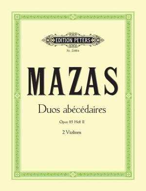 Mazas, J: 10 Duos abecedaires Op.85 Vol.II