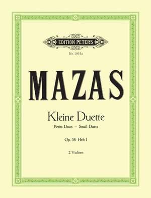 Mazas, J: Small Duets Op.38 Vol.I