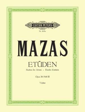 Mazas, J: Studies Op.36 Vol.3: Virtuoso Studies