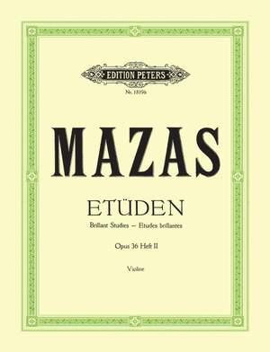 Mazas, J: Studies Op.36 Vol.2: 'Etudes brillantes'