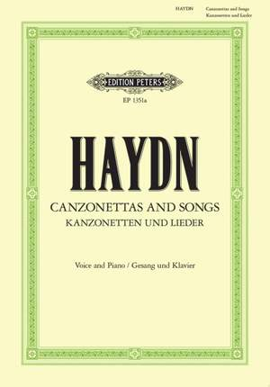 Haydn: 35 Canzonettas and Songs  (Ger. & Ger./Eng.) including 14 English poems (Landshoff)
