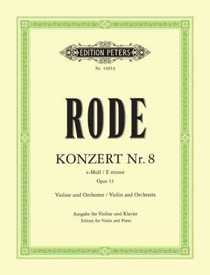 Rode, P: Concerto No.8 in E minor