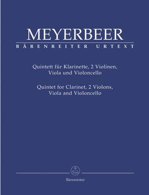 Meyerbeer, G: Quintet for Clarinet, 2 Violins, Viola and Violoncello (Urtext)