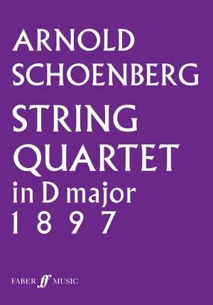 Schoenberg, Arnold: String Quartet in D major (score)