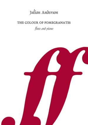 Anderson, Julian: Colour of Pomegranates, The (score & pt)