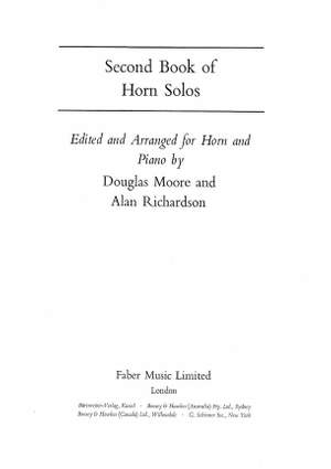Richardson, A: Second Book of Horn Solos