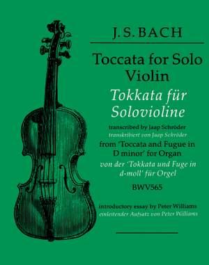 Bach, Johann Sebastian: Toccata in D minor (solo violin)