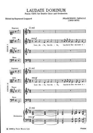 Cavalli, Francesco: Laudate Dominum (vocal score)