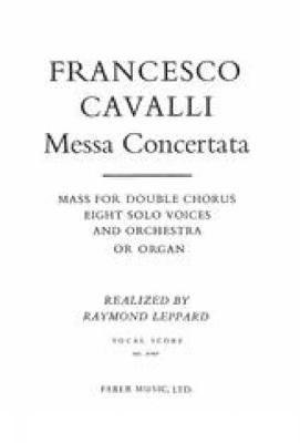 Cavalli, Francesco: Messa Concertata (vocal score)