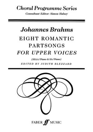 Brahms, Johannes: Eight Romantic Partsongs SSAA acc. (CPS)