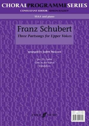 Franz Schubert: Three Partsongs SSAA
