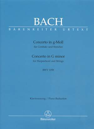 Bach, JS: Concerto for Keyboard No.7 in G minor (BWV 1058) (Urtext)