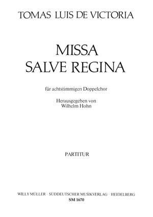 Victoria, Tomas Luis de: Missa Salve Regina Product Image