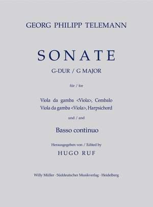 Telemann, G: Sonata in G (TWV 42: G6)