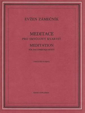 Zamecnik, E: Meditation For String Quartet