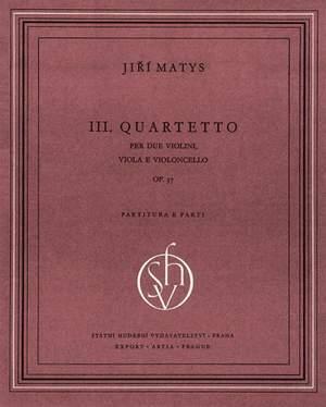 Matys: String Quartet No3 Score & parts