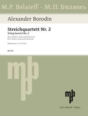 Borodin, A: String Quartet No 2 D major