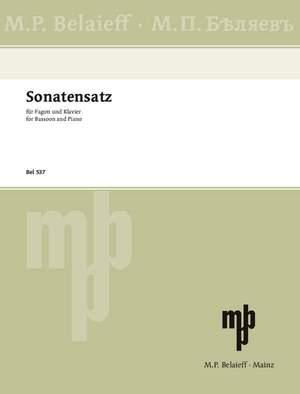 Glinka, M: Sonatensatz G Minor
