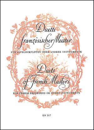 Various Composers: Duets by French Masters. (Boismortier, 2 Suites from Op.27; Naudot, 2 Suites from Op.10)