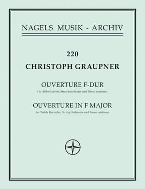 Graupner, C: Overture in F