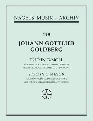 Goldberg, J: Trio in G minor (Sonata No.5)