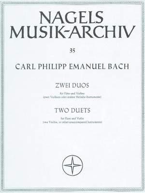 Bach, CPE: Duos (2) in E minor (Wq 140) & in C (Wq 142)