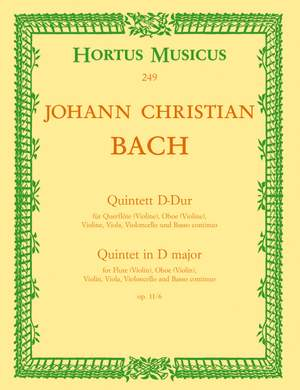 Bach, JC: Quintet in D, Op.11/ 6