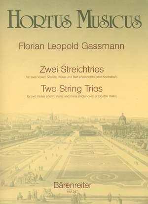 Gassmann, F: String Trios (2) (E-flat maj, B-flat maj)