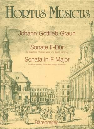 Graun, J: Sonata in F