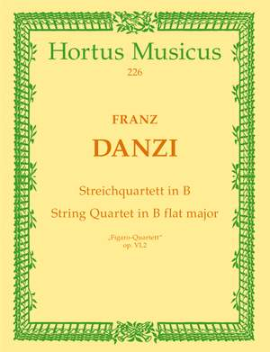 Danzi, F: String Quartet in B-flat, Op.6/2 (Figaro Quartet) Product Image