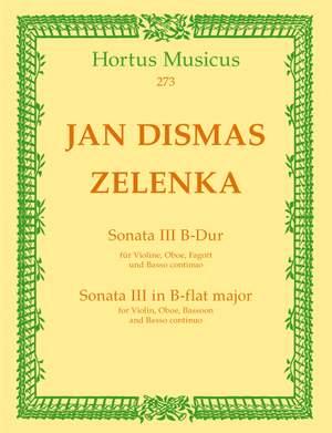 Zelenka, J: Sonata No.3 in B-flat