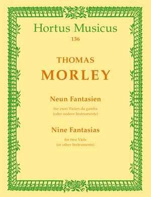 Morley, T: Fantasias (9)