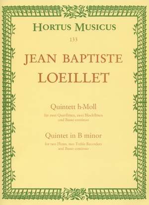 Loeillet, J: Quintet in B minor Product Image