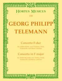 Telemann, G: Concerto for Treble Recorder in F