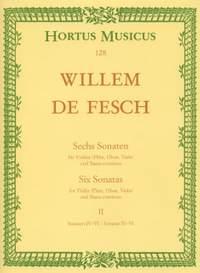 Fesch, W: Sonatas (6), Vol. 2: Nos. 4 - 6 (G maj, A maj, B min)