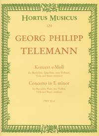 Telemann, G: Concerto for Recorder and Flute in E minor