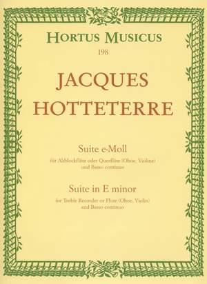 Hotteterre, J: Suite in E minor, Op.5/ 2 (originally C minor)