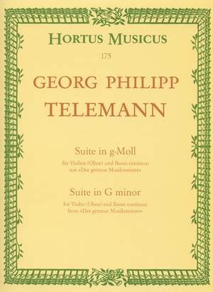 Telemann, G: Suite in G minor (from Der getreue Musikmeister) (TWV 41: g4)