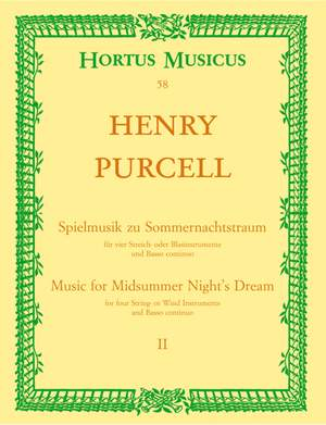 Purcell, H: Incidental Music for A Midsummer Night's Dream Part 2. (From the opera The Fairy Queen) Product Image