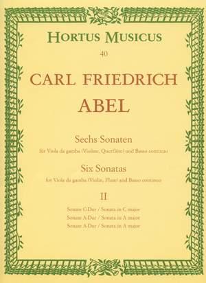 Abel, KF: Sonatas (6), Vol. 2: Nos. 1 (C maj), 2 (A maj), 5 (A maj)