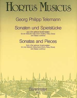 Telemann, G: Sonatas and Pieces (from Der getreue Musikmeister) (TWV 41: a3, g5, d1, C1, E2, B4)