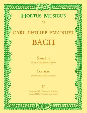 Bach, CPE: Sonatas (2), Vol.2: in A minor & D (Wq 128 & 131)