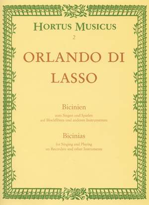 Lasso, O: Bicinia for Singing and Playing (L) Product Image