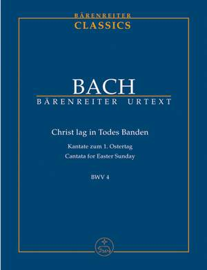 Bach, JS: Cantata No. 4: Christ lag in Todesbanden (BWV 4) (Urtext)
